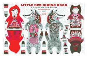 Little Red Riding Hood Tea Towel / Cloth Kit - A silkscreen design