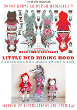 Load image into Gallery viewer, Little Red Riding Hood Tea Towel / Cloth Kit - A silkscreen design