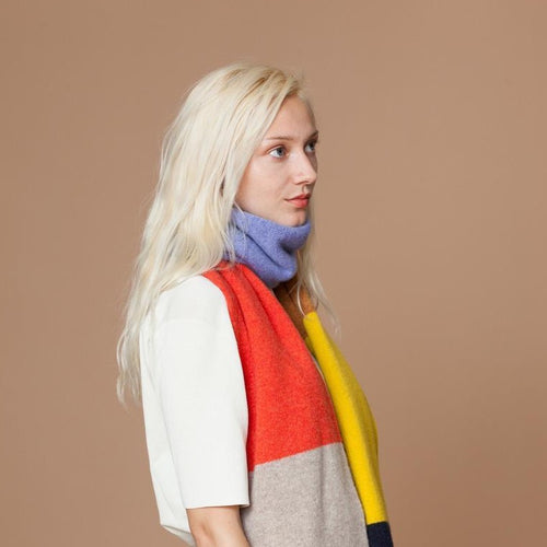Big Colour Block Lambswool Scarf