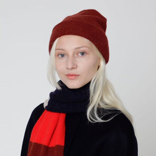 Lambswool Circular Knitted Beanie