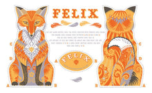 Load image into Gallery viewer, Felix the Fox Tea Towel / Cloth Kit - A silkscreen design