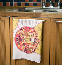 Load image into Gallery viewer, Clarence the Lion Tea Towel  / Cloth Kit - A silkscreen design