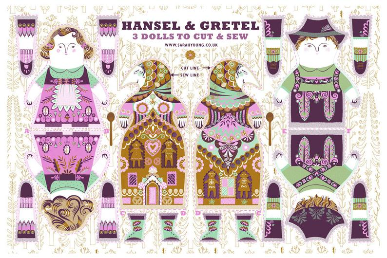 Hansel and Gretel Tea Towel / Cloth Kit - A silkscreen design