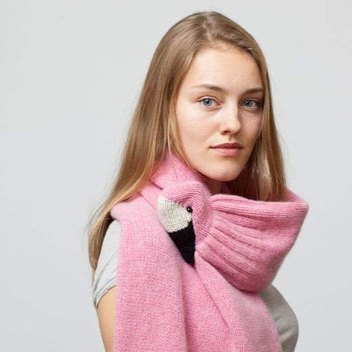 Pink Flamingo Stole Scarf - XL