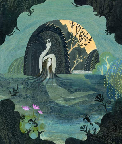 Arethusa Bathing - Print of an illustration by Sarah Young