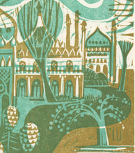 Load image into Gallery viewer, Pavilion Gardens - Woodcut Print
