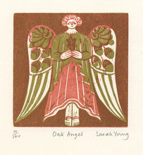 Load image into Gallery viewer, Oak Angel - Woodcut Print