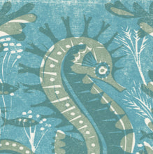 Load image into Gallery viewer, Seahorse - Woodcut Print