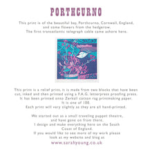Load image into Gallery viewer, Porthcurno - Relief / Letterpress Print