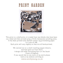 Load image into Gallery viewer, Print Garden - Relief / Letterpress Print