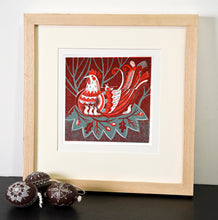 Load image into Gallery viewer, Hen and Chicks - Relief / Letterpress Print