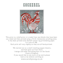 Load image into Gallery viewer, Cock - Relief / Letterpress Print