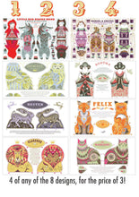 Load image into Gallery viewer, Any 4 Tea Towel / Dish Towel / Cloth Kit Designs for the price of 3