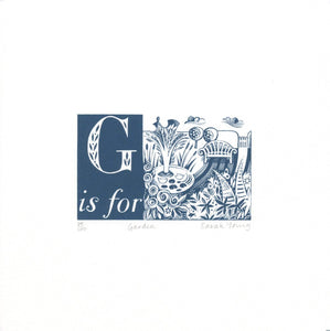 G is for Garden - Alphabet Silkscreen Print