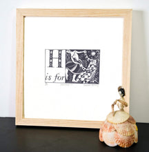 Load image into Gallery viewer, H is for Harlequin - Alphabet Silkscreen Print