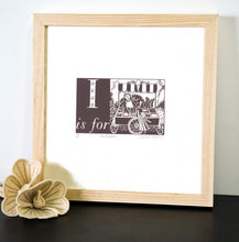 Load image into Gallery viewer, I is for Ice Cream - Alphabet Silkscreen Print