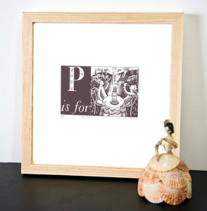 P is for Party - Alphabet Silkscreen Print