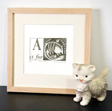 Load image into Gallery viewer, A is for Armadillo - Alphabet Silkscreen Print