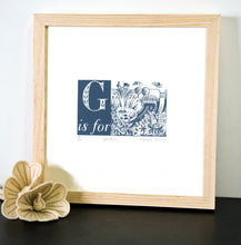 Load image into Gallery viewer, G is for Garden - Alphabet Silkscreen Print