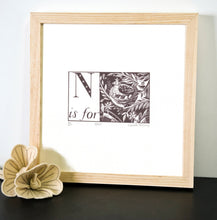 Load image into Gallery viewer, N is for Nest - Alphabet Silkscreen Print