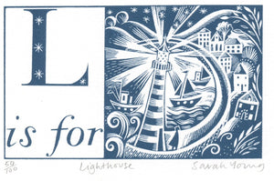 L is for Lighthouse - Alphabet Silkscreen Print
