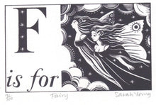 Load image into Gallery viewer, F is for Fairy - Alphabet Silkscreen Print