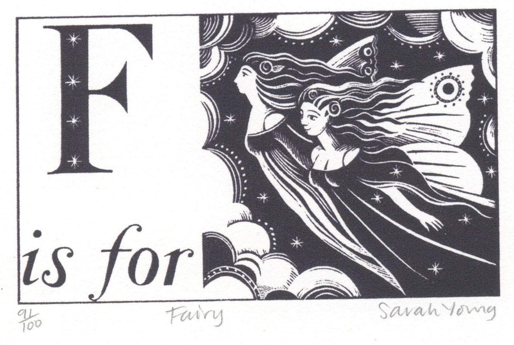 F is for Fairy - Alphabet Silkscreen Print