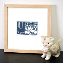 Load image into Gallery viewer, U is for Unicorn - Alphabet Silkscreen Print