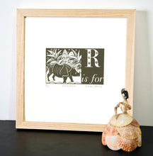 Load image into Gallery viewer, R is for Rhinoceros - Alphabet Silkscreen Print
