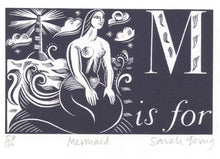 Load image into Gallery viewer, M is for Mermaid- Alphabet Silkscreen Print