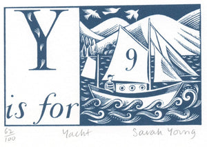 Y is for Yacht - Alphabet Silkscreen Print