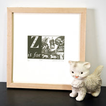 Load image into Gallery viewer, Z is for Zoo - Alphabet Silkscreen Print