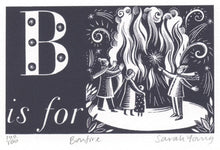Load image into Gallery viewer, B is for Bonfire - Alphabet Silkscreen Print