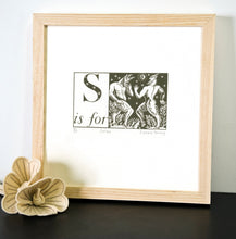Load image into Gallery viewer, S is for Satyrs - Alphabet Silkscreen Print