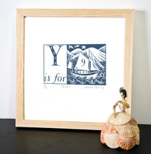 Load image into Gallery viewer, Y is for Yacht - Alphabet Silkscreen Print