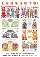 Load image into Gallery viewer, Any 8 Tea Towel / Cloth Kit Designs for the price of less than 6