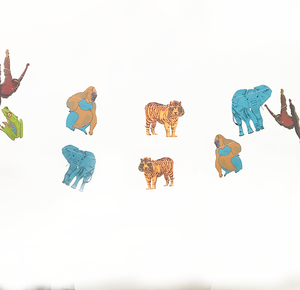 Jungle Animal Screen Printed Paper Garland