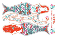 Load image into Gallery viewer, Meryl The Mermaid Tea Towel / Cloth Kit - A silkscreen design