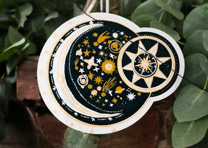 Celestial Screen Printed Paper Garland