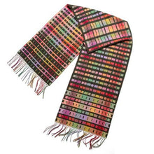 Load image into Gallery viewer, Hold Wrap - Morse code pattern scarf