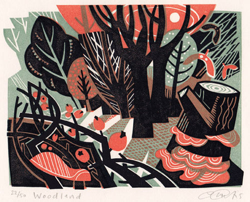 Woodland print by Clare Curtis