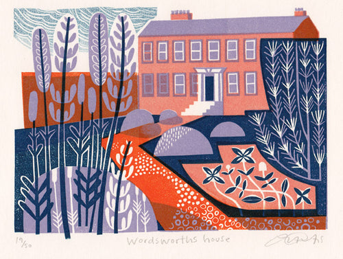 Wordsworth's House print by Clare Curtis