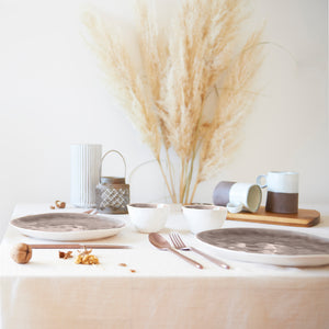 MaTableBOX | Art de la Table | Table chaleureuse | Taupe, blanc, marron