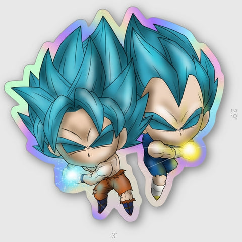 GOKU + VEGETA BLAST HOLOGRAPHIC STICKER