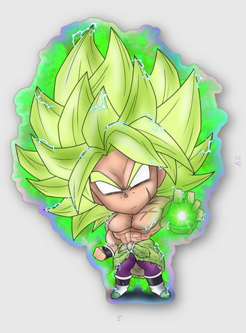 STICKER - DB - BROLY - HOLOGRAPHIC