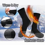 Winter 35 Below Aluminized Insulation Fibers Heat Socks!