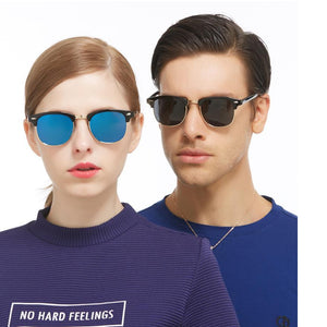 Retro Half-frame Polarized Sunglasses UV400