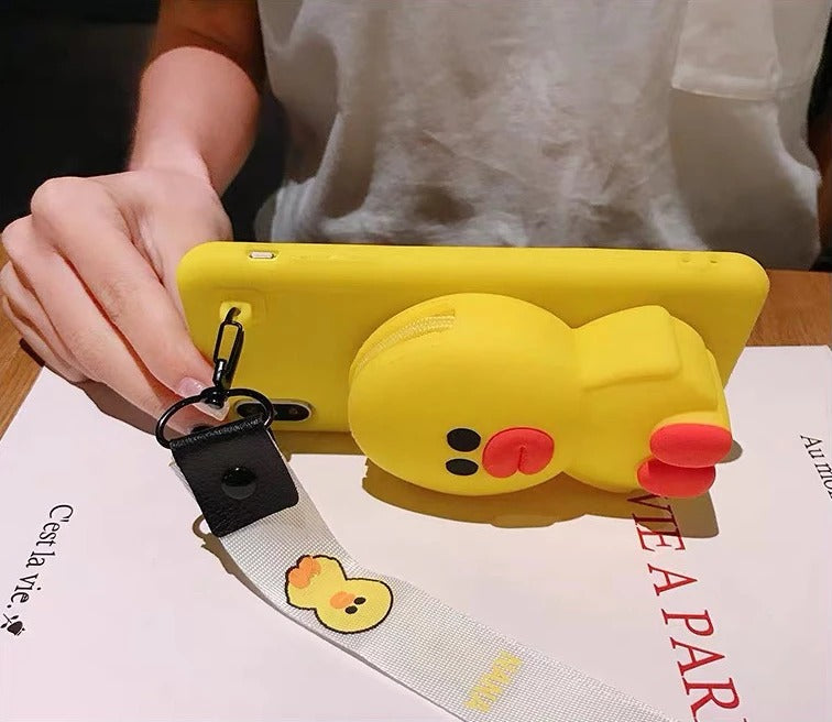 Up to 50% Discount!】Cartoon Storage Phone Case For iPhone/Samsung (With Lanyard)