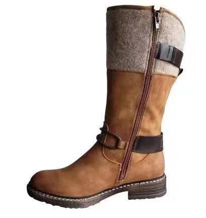 (Last day 50% OFF) Comfy Warming Low Heel Mid-calf Boots