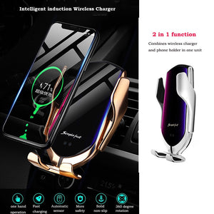Wireless Automatic Sensor Car Phone Holder and Charger [Flash SALE: Pay 2 Get 3]